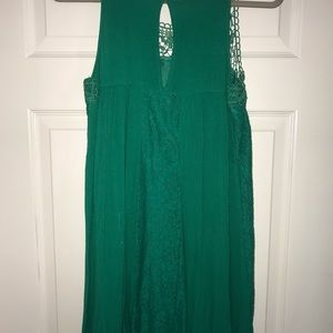 Green swing dress